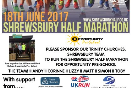 Trinity Churches to Run Shrewsbury Half Marathon