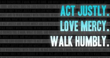 Walk humbly