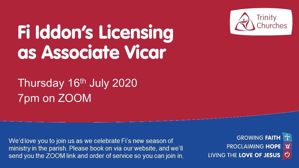 Fi Iddon's Licensing as Associate Vicar