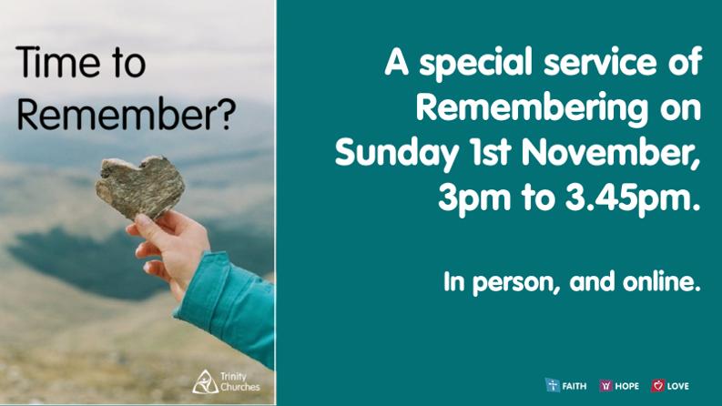 November - A season of Remembering