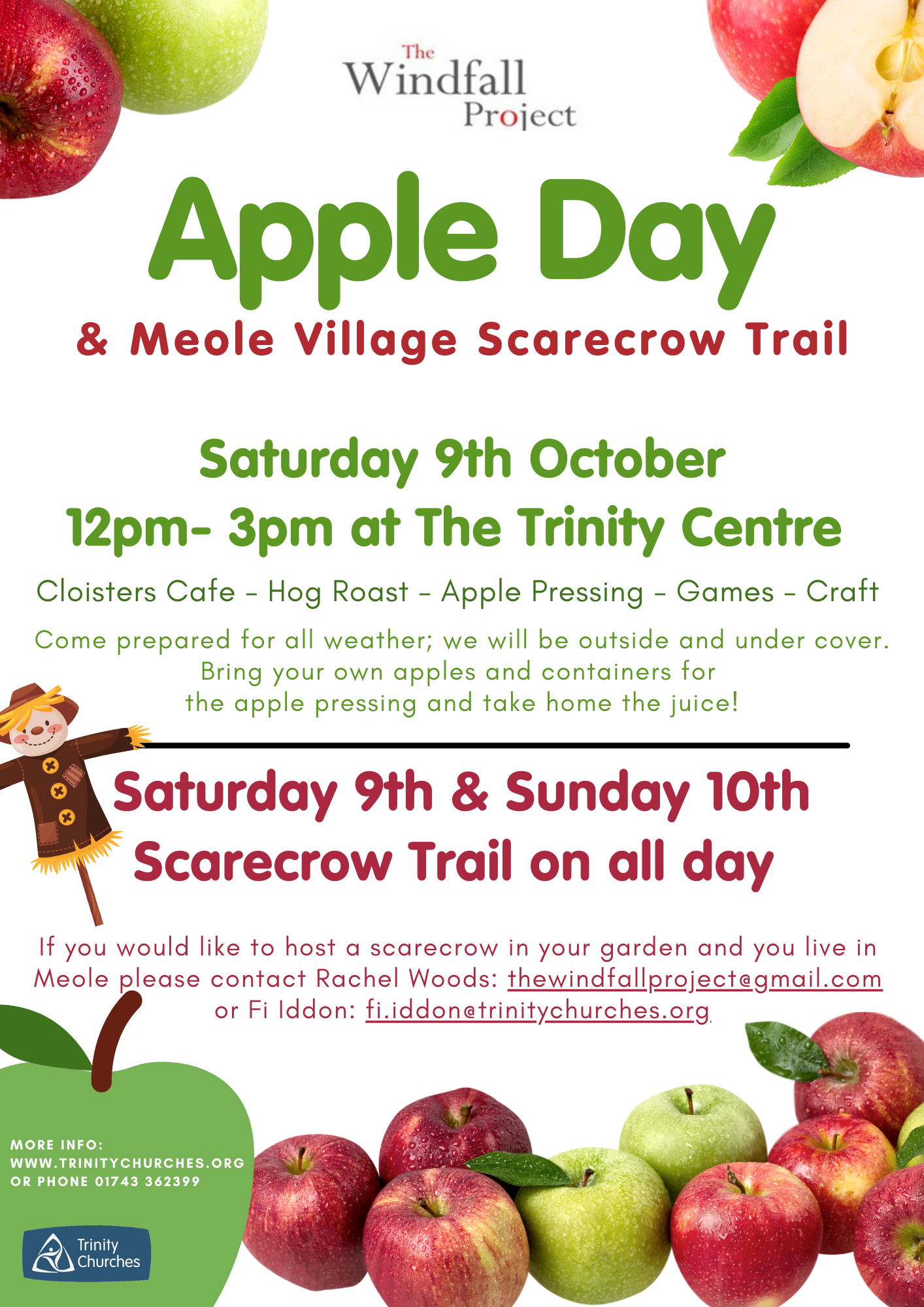 Community Apple Day and Scarecrow Trail